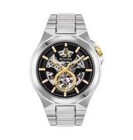Bulova Maquina Men's Silver Tone  Automatic Watch