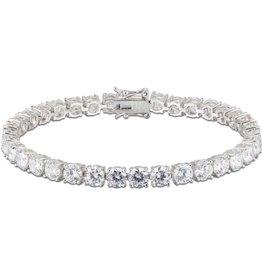 Sterling Silver Rhodium Plated CZ Tennis Bracelet
