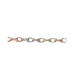 10K Tri Gold Fancy Ladies Link Bracelet