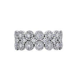 14K White Gold (1.14ct) Diamond Fancy Multi Halo Ring