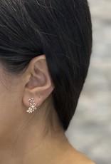 10K Rose Gold (0.05ct) Canadian Diamond Floral Stud Earrings
