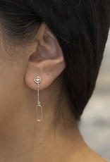 10K White and Rose Gold Canadian Diamond Drop Earrings