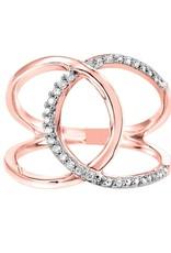 Rose Gold Geometric Diamond Ring
