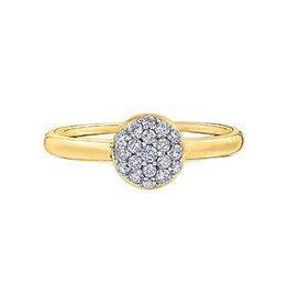 10K Yellow Gold (0.29ct) Diamond Cluster Ring