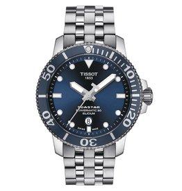Tissot Seastar 1000 Powermatic 80 Silicium Men's Silver Tone Blue Dial Watch