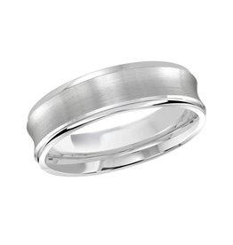 Malo Platinum (6mm) Brushed Concaved Wedding Band