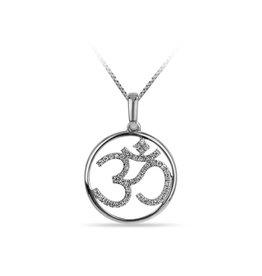 10K White Gold (0.03ct) Diamond Angel Necklace