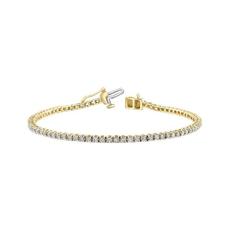10K Yellow Gold (2.00ct) Diamond Tennis Bracelet