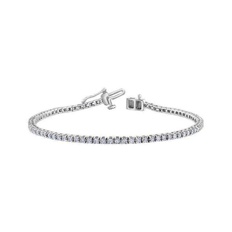 10K White Gold (2.00ct) Diamond Tennis Bracelet
