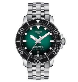 Tissot Tissot Seastar 1000 Powermatic 80 Men`s Silver Tone Green Dial Watch