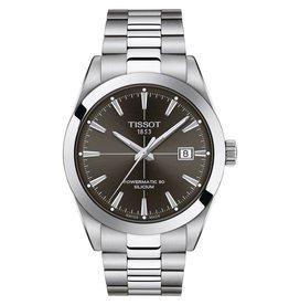 Tissot Gentlement Powermatic 80 Silicium Silver Tone Black Dial Watch