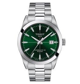 Tissot Gentlement Powermatic 80 Silicium Silver Tone Green Dial Watch