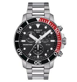 Tissot Seastar 1000 Chronograph Men's Silver Tone Black Dial Watch
