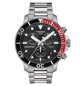 Tissot Tissot Seastar 1000 Chronograph Men's Silver Tone Black Dial Watch