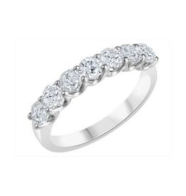 Fire and Ice 14K White Gold (0.50ct) Canadian Diamond Anniversary Band