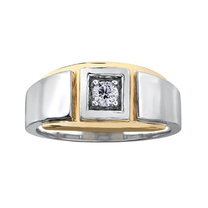 I am Canadian 10K White and Yellow Gold (0.20ct) Canadian Diamond Men's Ring
