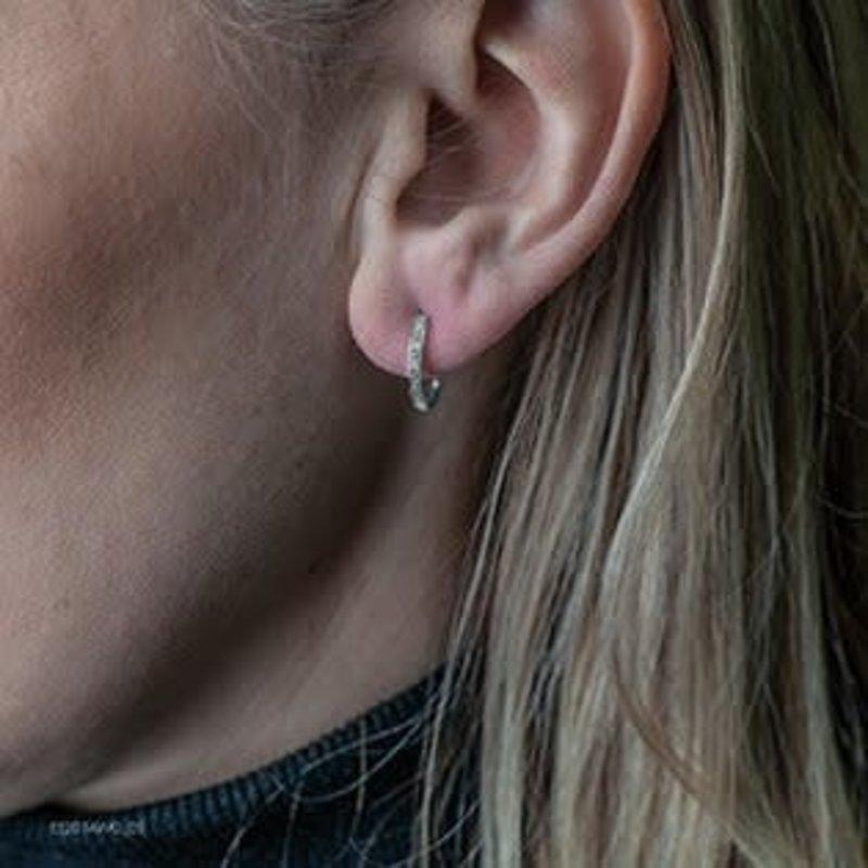 10K Rose Gold (0.05ct) Diamond Hoop Earrings