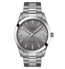 Tissot Tissot Gentleman Titanium Silver Tone Gray Dial Watch