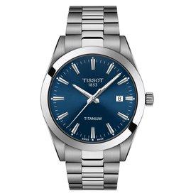 Tissot Gentleman Titanium Silver Tone Blue Dial Watch