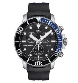 Tissot Tissot Seastar 1000 Chronograph Men's Black Dial Rubber Black Strap Watch