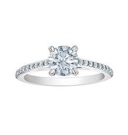 14K White Gold (0.70ct) Round Lab Grown Diamond Engagement Ring