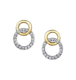 10K Yellow and White Gold (0.15ct) Diamond Soulmate Earrings