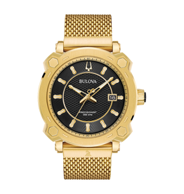 Bulova Bulova Special Grammy Precisionsit Limited Edition Men's Gold Tone with Black Dial Watch