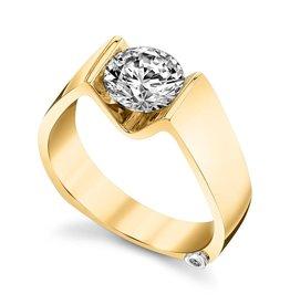 Mark Schneider Mark Schneider 14K Yellow Gold Blissful Solitaire Diamond Semi Mount Engagement Ring