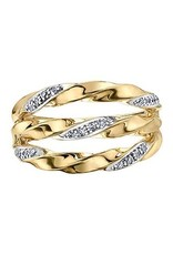 I am Canadian 10K Rose and White Gold (0.25ct) Canadian Diamond Teardrop Dangle Pendant