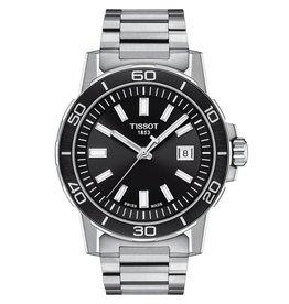 Tissot Tissot Supersport Men's Silver Tone Black Dial Watch