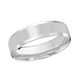 Malo 10K White Gold (6mm) Brushed Centre Band