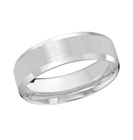 Malo 10K White Gold (7mm) Brushed Centre Band