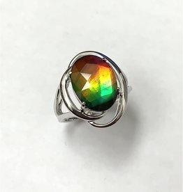 Korite Korite Rosalind Ammolite Ladies Sterling Silver Ring