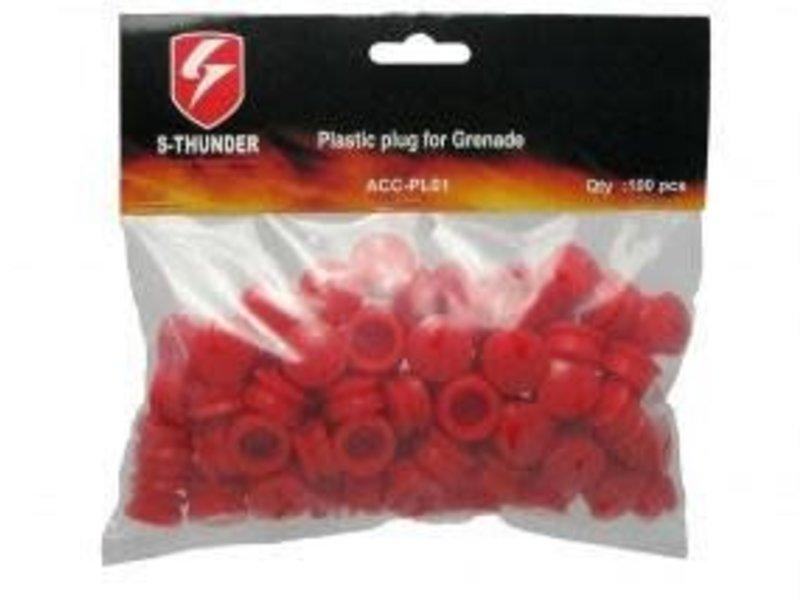 S Thunder S Thunder Plastic Plug Pack 100ct