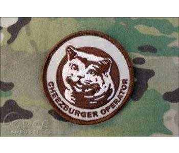 Orca Industries Cheezburger Operator Patch, Desert