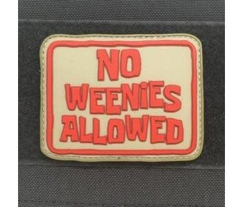 Tactical Outfitters No Weenies Allowed PVC Morale Patch