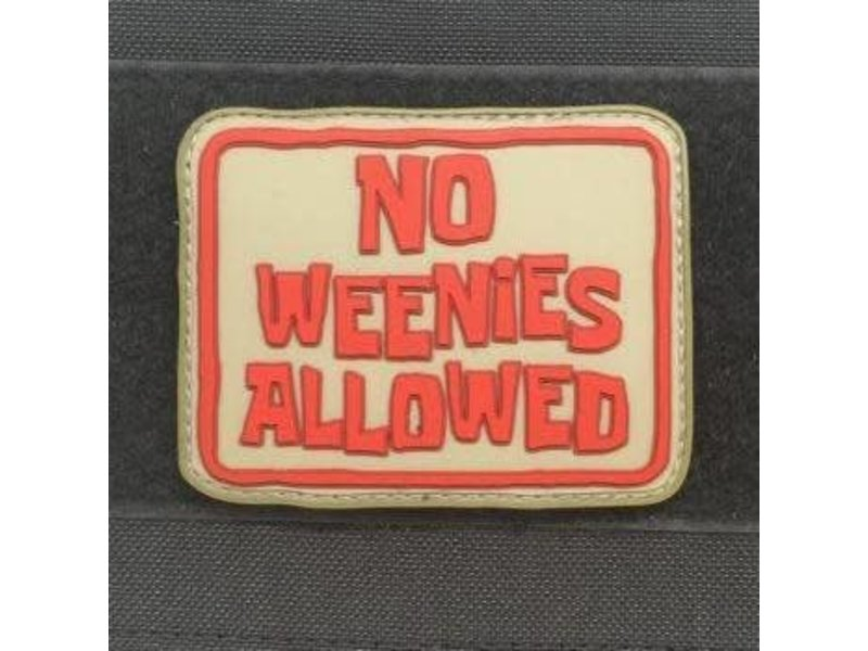 Tactical Outfitters Tactical Outfitters No Weenies Allowed PVC Morale Patch