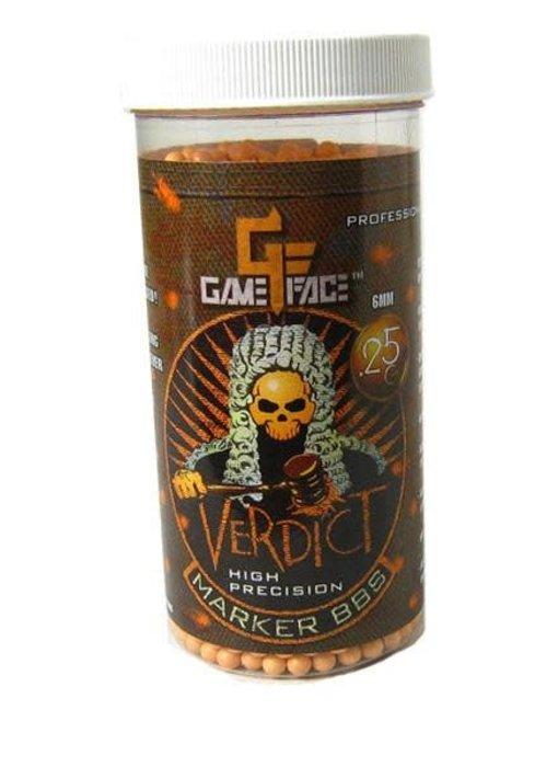 Gameface Verdict 0.25g 2200 ct