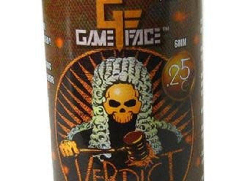 Gameface Gameface Verdict 0.25g 2200 ct