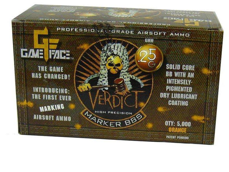 Gameface Gameface Verdict 0.25g 5000 ct