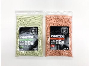 Airsoft Extreme AEX 0.25g 4000ct 6mm Airsoft Tracer BBs