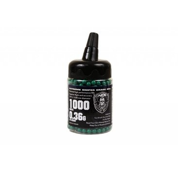 Airsoft Extreme AEX 0.36g 1000ct Bottle 6mm Airsoft BBs