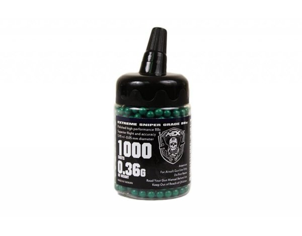 Airsoft Extreme AEX 0.36 BBs 1000 Count Bottle