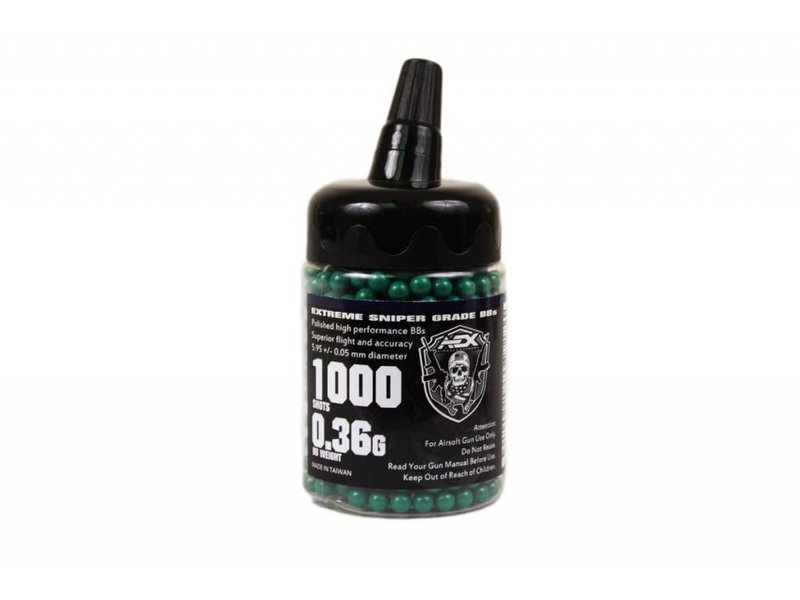 Airsoft Extreme AEX 0.36g BBs 1000 ct Bottle