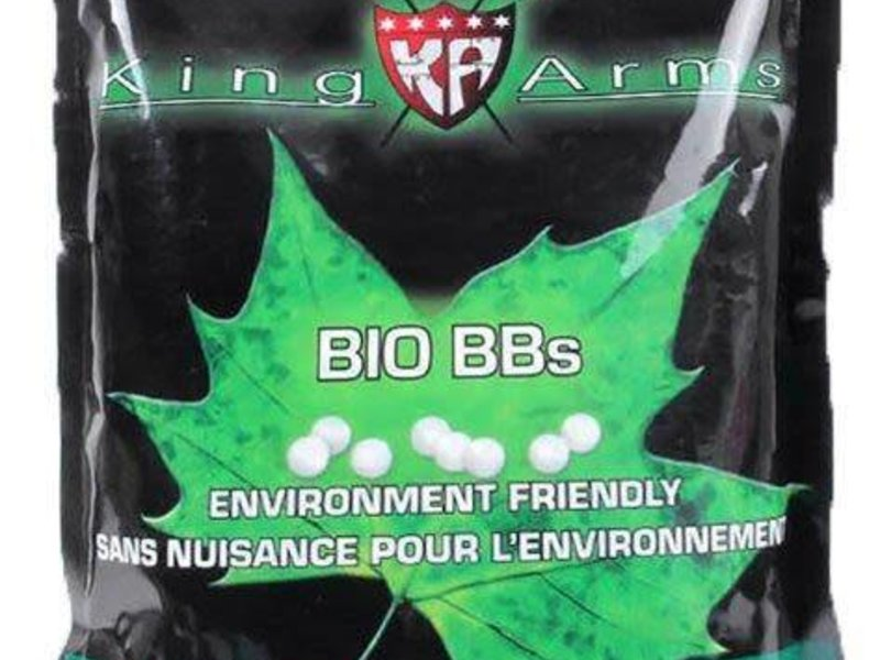 King Arms King Arms 0.20g biodegradable BB, 5000 ct, White