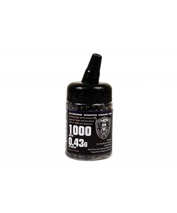 Airsoft Extreme AEX 0.43g 1000ct Bottle 6mm Airsoft BBs