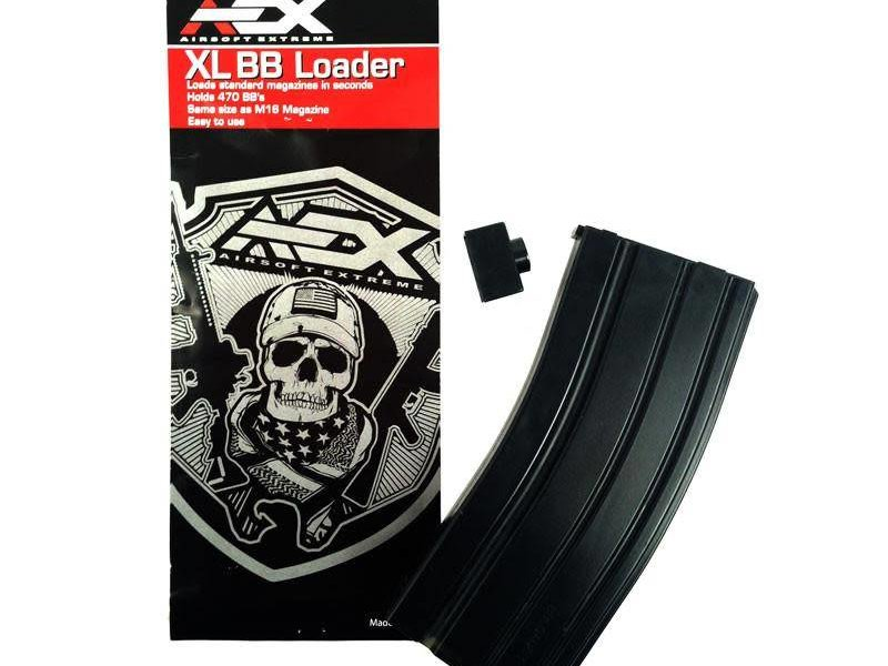 Airsoft Extreme AEX 470 Round Speed Loader Black