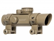 NcStar NC Star 30mm Tube Style Red Dot 4 Reticle Red/Green Illuminated Tan