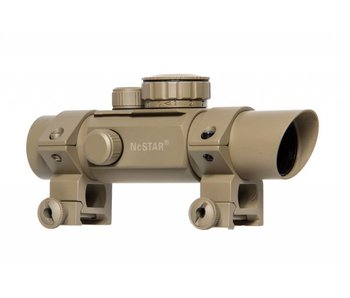 NC Star 30mm Tube Style Red Dot 4 Reticle Red/Green Illuminated Tan