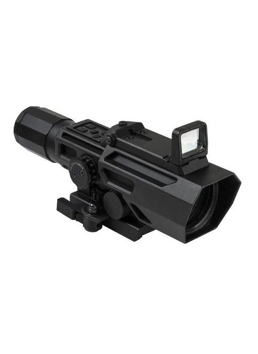 NC Star ADO 3-9x42 P4 Sniper Scope with Flip Up Dot